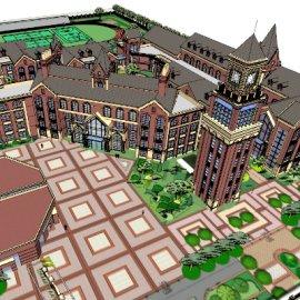 英式学校建筑模型
