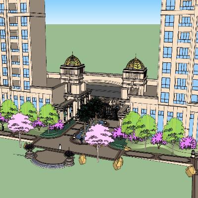 高档园区景观门及其细节展示