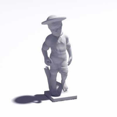 3D小孩雕塑