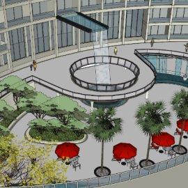 [酒店整体模型]01自己建的酒店景观 2013酒店