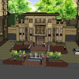 欧式园区古典入口