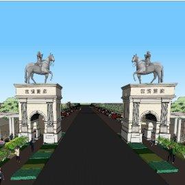 某高档园区入口设计方案