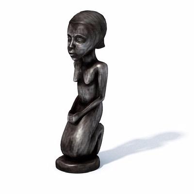 女性人物雕塑
