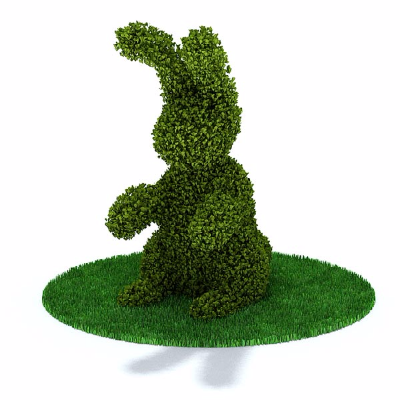 兔子植物景观模型