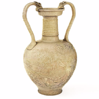 古典陶瓷雕塑瓶罐3d模型