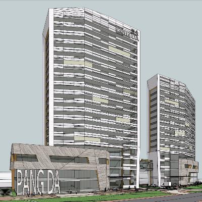 庞大集团现代商业办公综合大厦