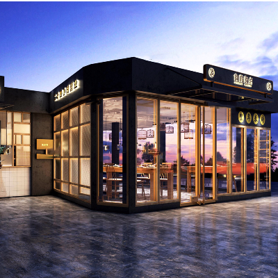 现代店铺门面3D模型