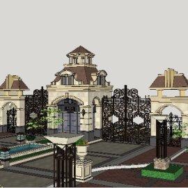 欧式园区入口