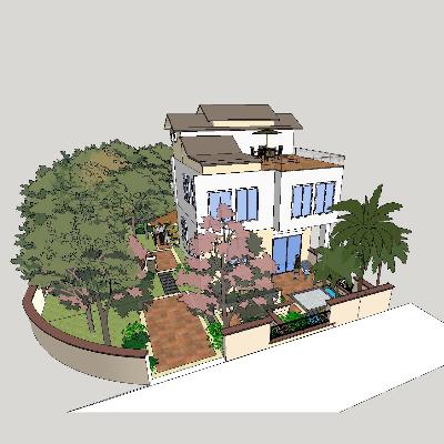 庭院花园民居