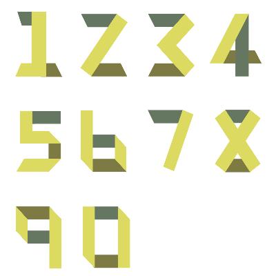 折叠数字矢量文件