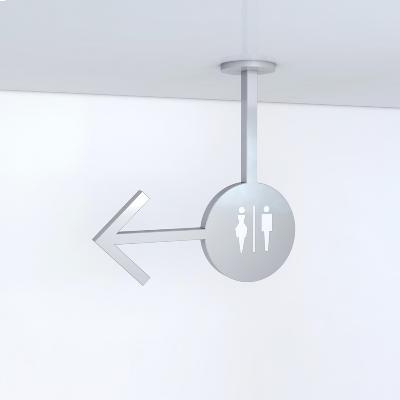 立体箭头形状功能写字楼卫生间导视牌
