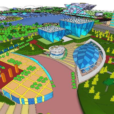 现代城市中心综合商业区规划