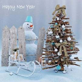 圣诞雪人美陈