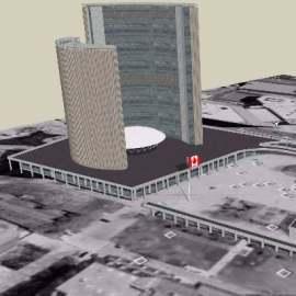 大厦3D建筑景观设计模型