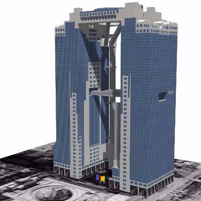 摩天大楼建筑模型设计
