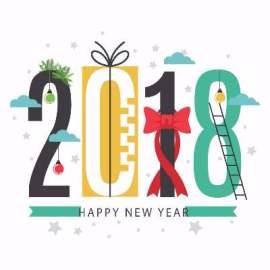 2018新年创意字设计