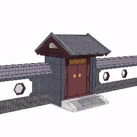中式大门入口