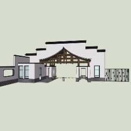 新中式小区入口设计