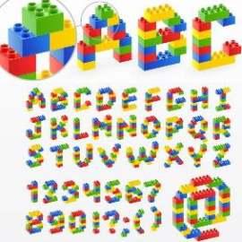 乐高拼图字母数字
