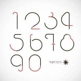 线条创意数字设计