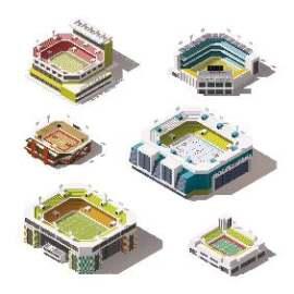 3D扁平化球场创意设计