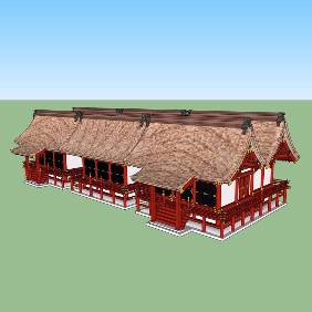 日式古典风格民居建筑