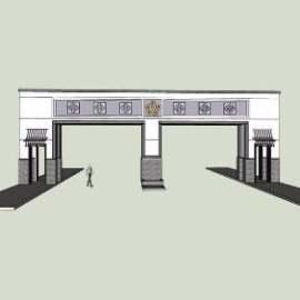中式入口设计