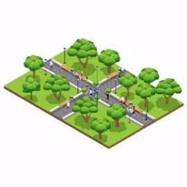 卡通公园绿化插图