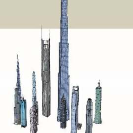 世界著名超高层建筑SU模型