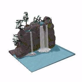 景观园林假山跌水