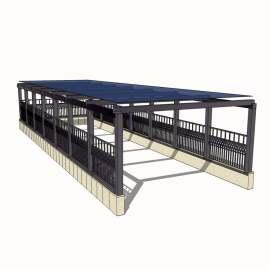 停车场入口模型