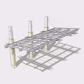 景观廊架模型