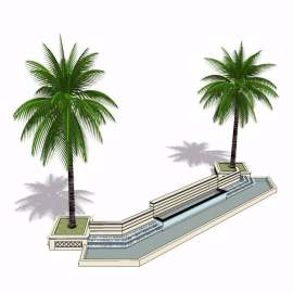 景观园林绿化树模型