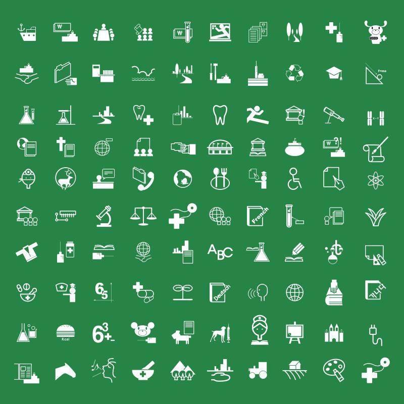 生活、科技、农业、畜牧类图标