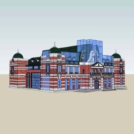巴洛克会馆模型