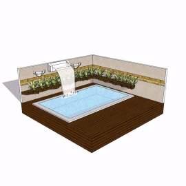 露天游泳池模型