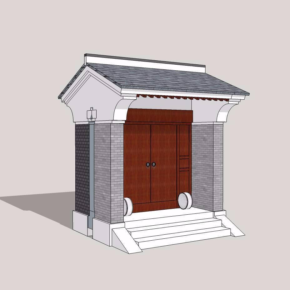 中式建筑大门