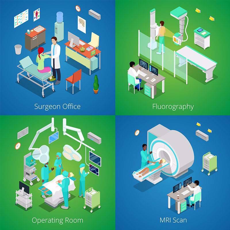 扁平化医院内部图