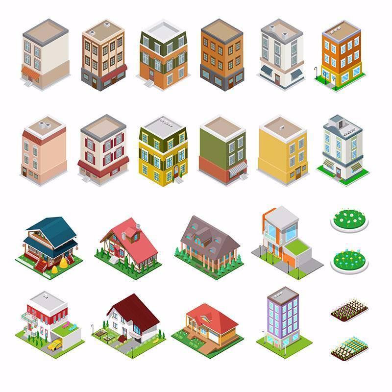 扁平化建筑群