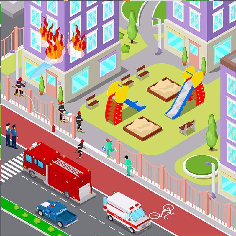 扁平化城市信息图