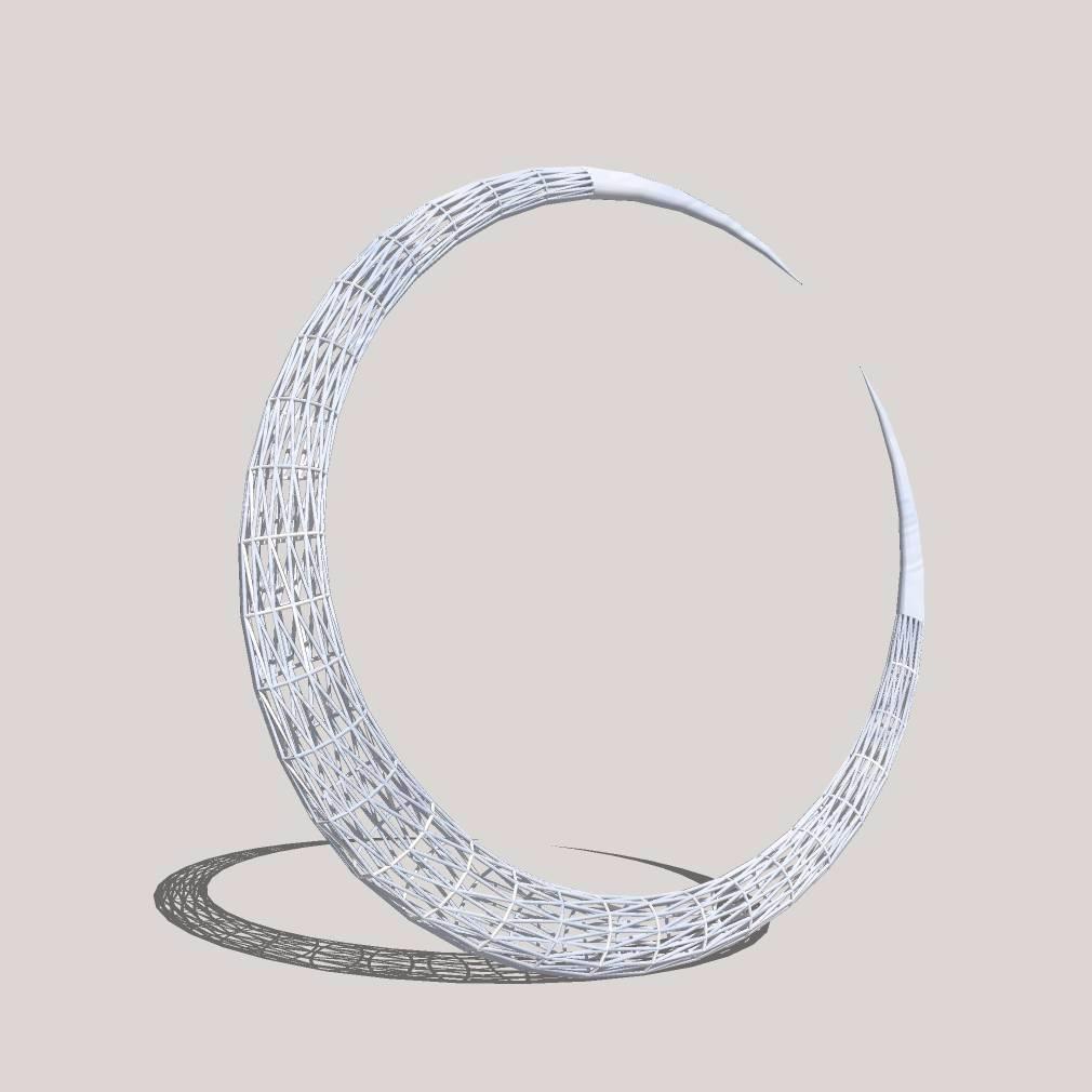 创意月牙弯模型