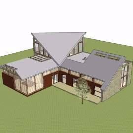 现代田园别墅建筑设计