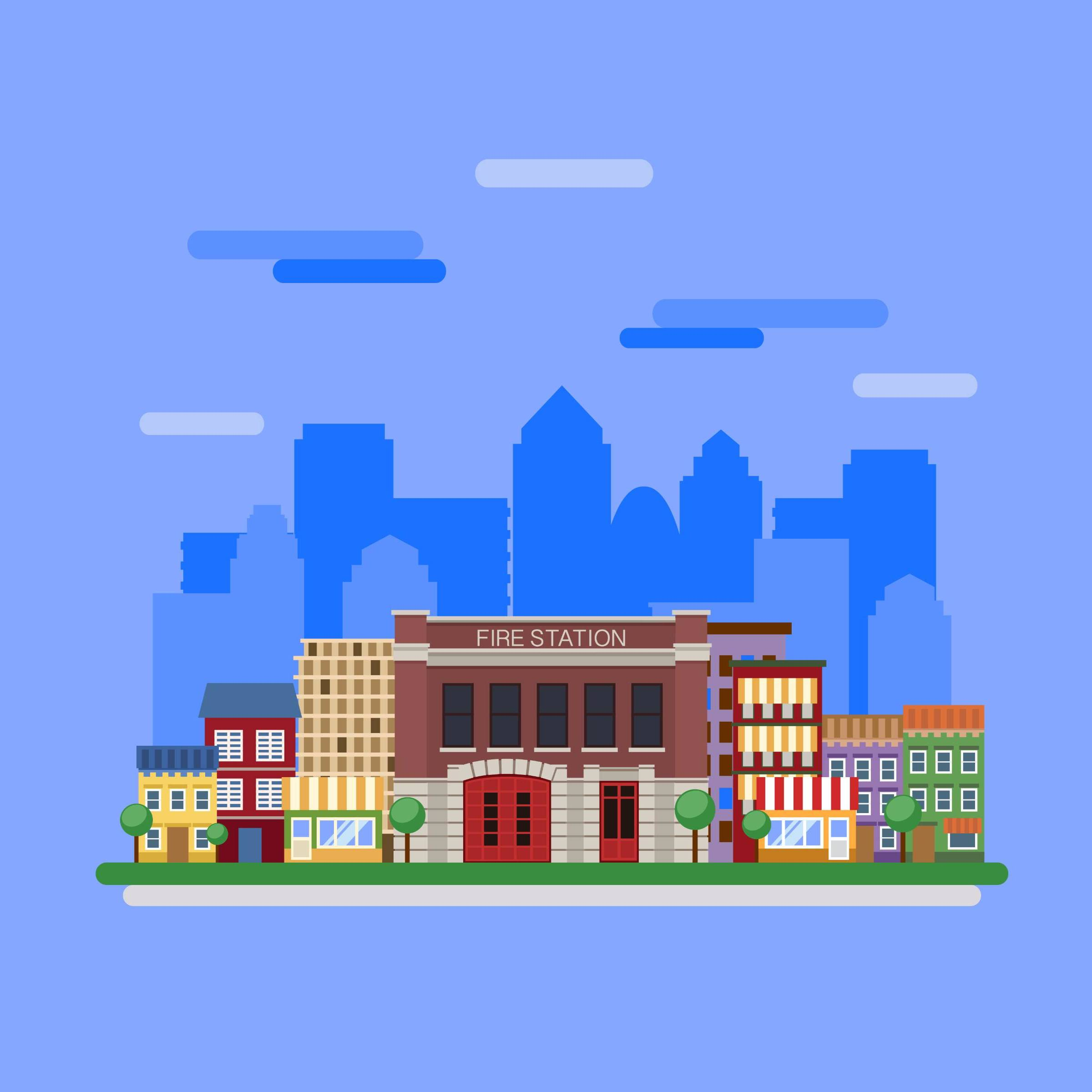 扁平化城市图