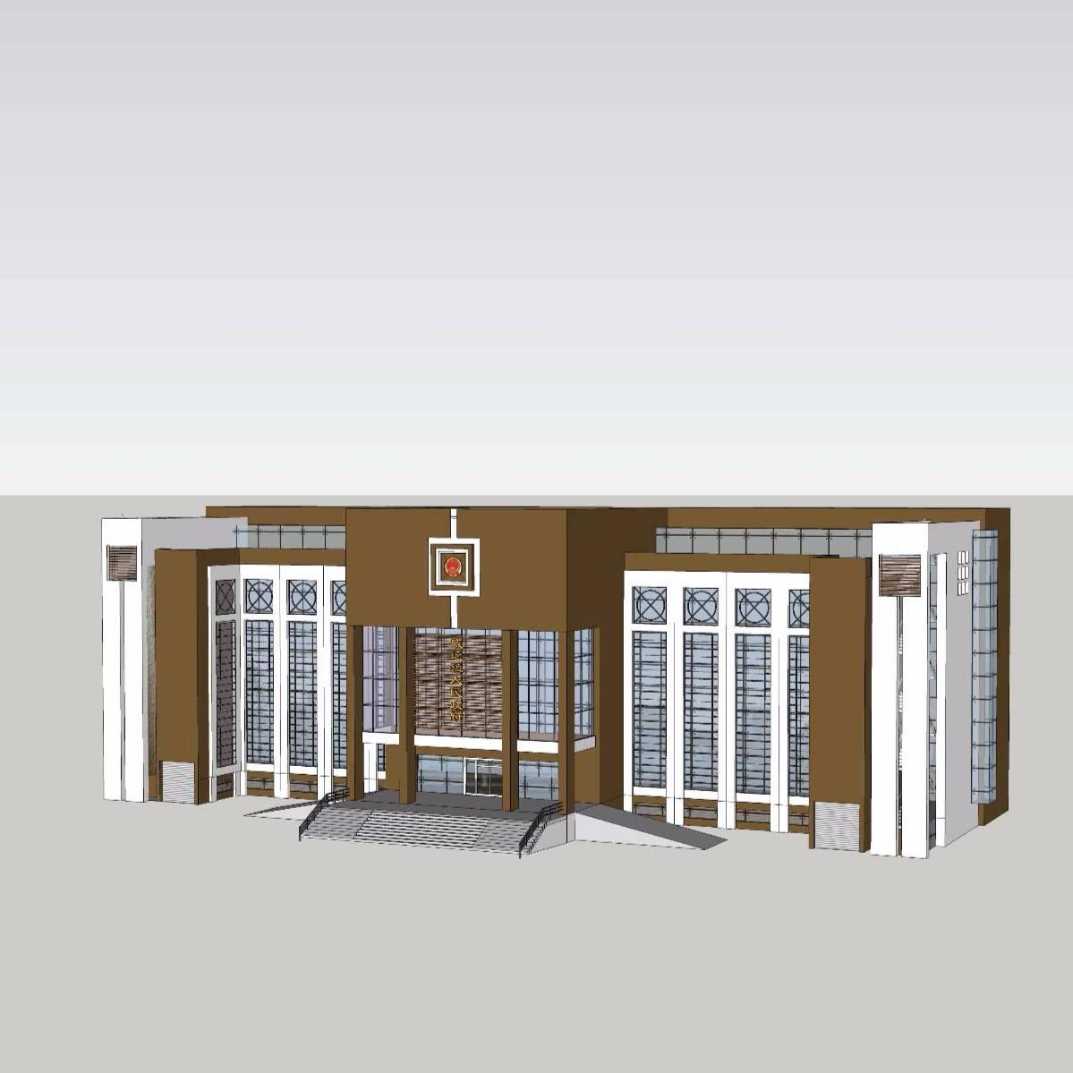 小型政府大楼模型