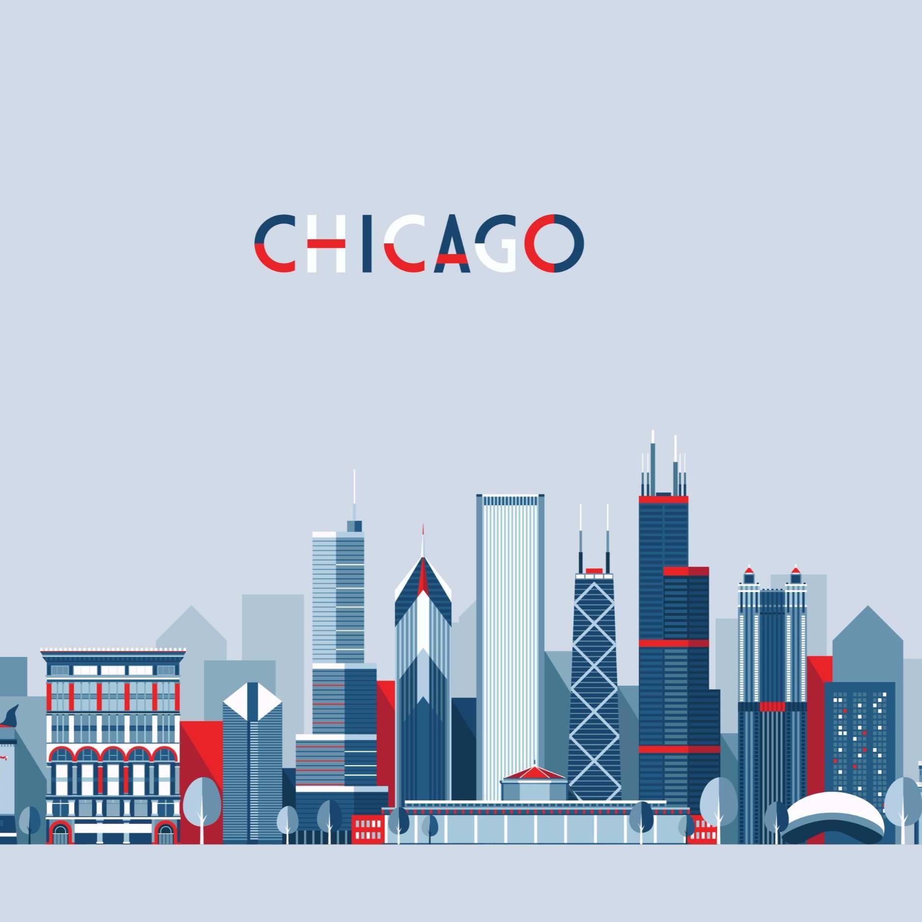 扁平化城市建筑图