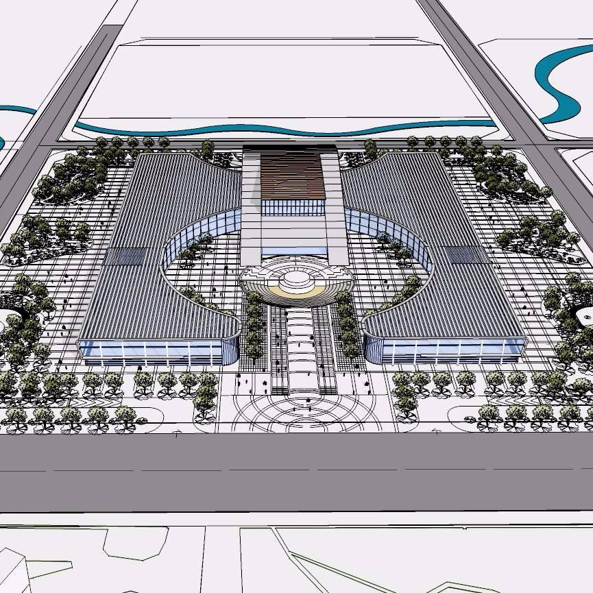文化广场模型