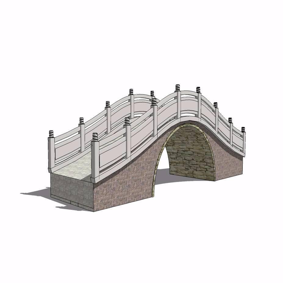 园林拱桥建筑