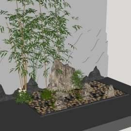 园林景观中式风格小场景
