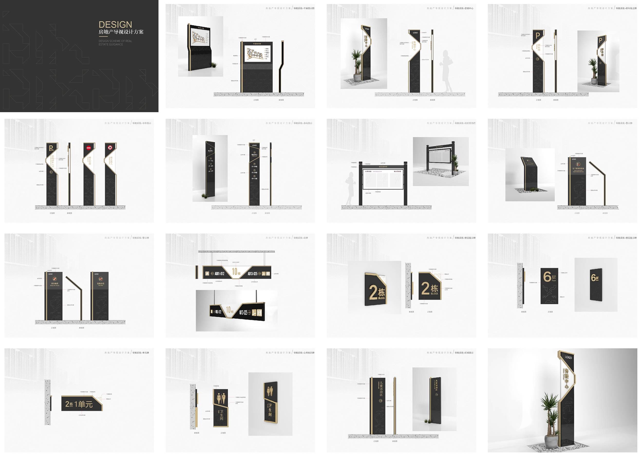 房地产小区全套导视设计方案