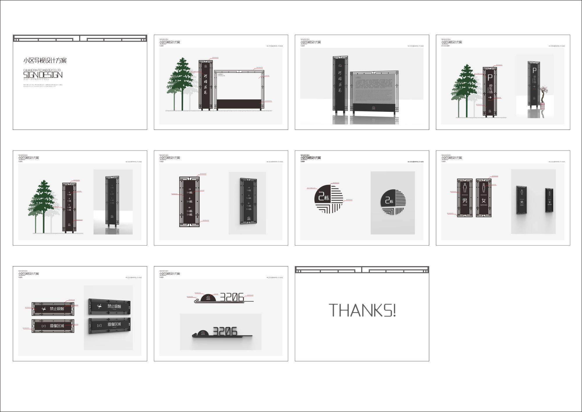 小区导视系统设计方案(附带效果图)